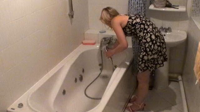 Angelic Blonde Novice Voyeur Cutie Marina Washing Clam In Tub Bathtub Within The Secret Agent Digital Camera
