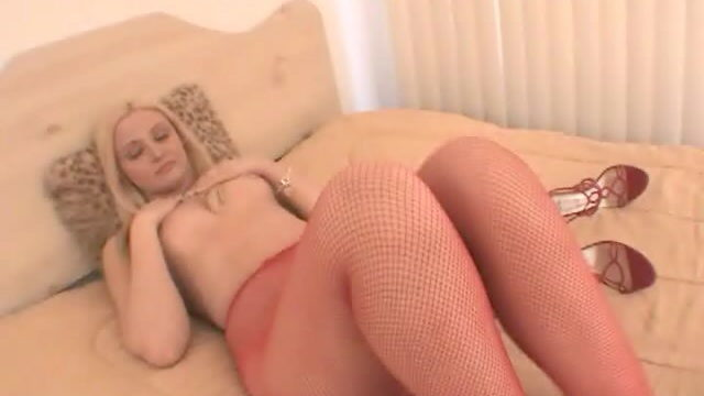 Breathless Blonde Hoe In Pink Pantyhose Ariel Summer Time Appearing Her Superb Frame