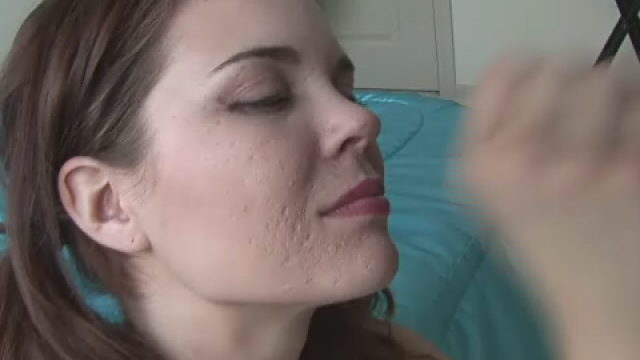 Fascinating Little Doll In Pigtails Heidi  Giving Handjob On Her Knees
