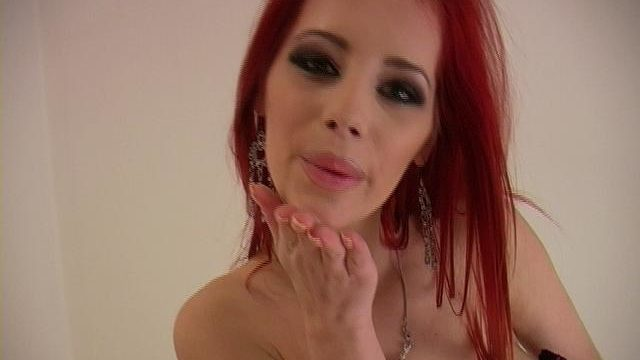 Fiery Redheaded Pornstar Ariel Stripping Arousing Corset And Taking Part In Together With Her Divine Tetitas