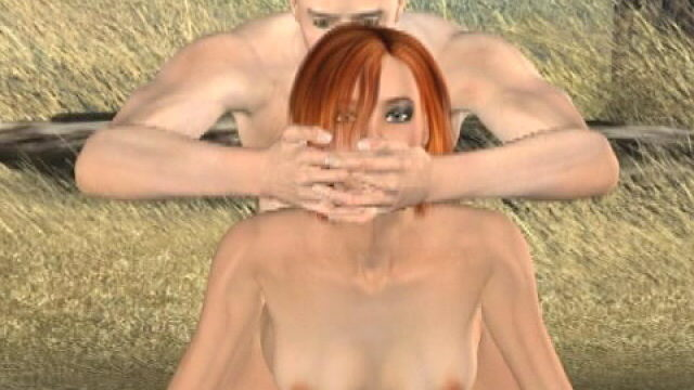 Slutty Redheaded 3-d Tremendous Style Tammy Will Get Juggled Domestic Dog Outside