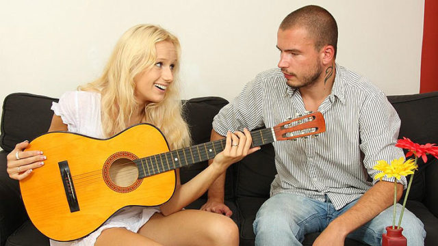 Guitar Toying Step-brother Tears Up His Gf