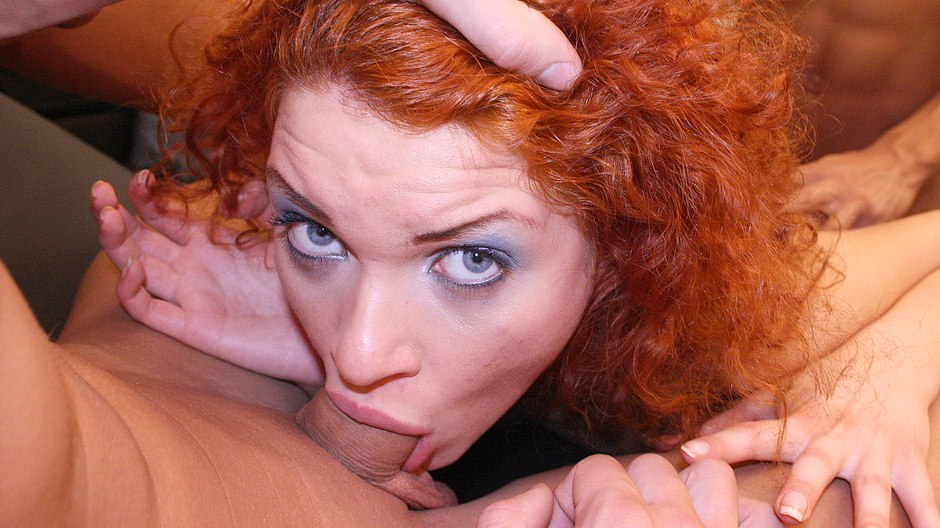 Rigid 4some Fuckfest With A Super-steamy Ginger-haired
