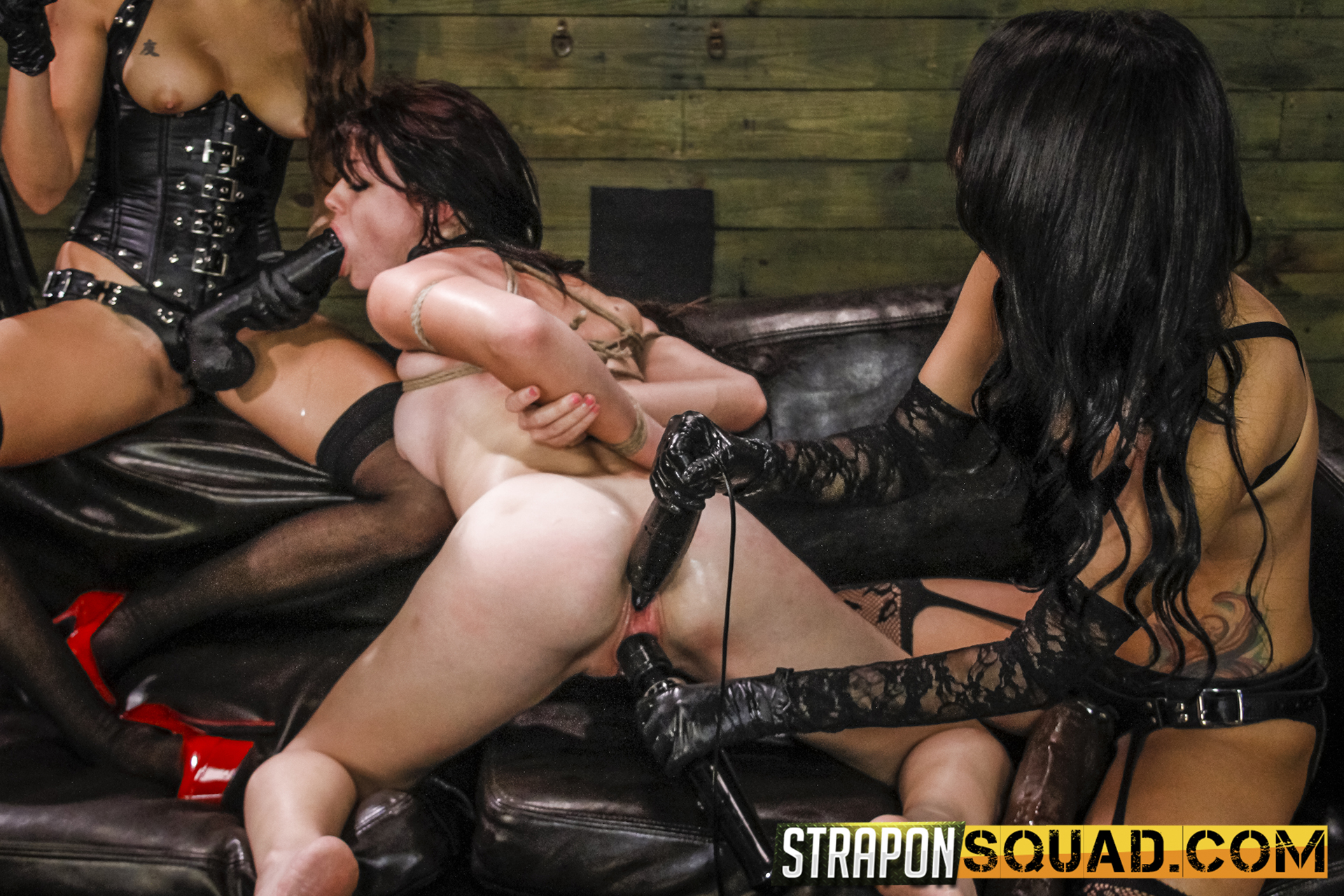 Lezzie Dominance & Sybian Saddle 3 Way With Kaisey Dean, Marina Angel, Esmi Lee