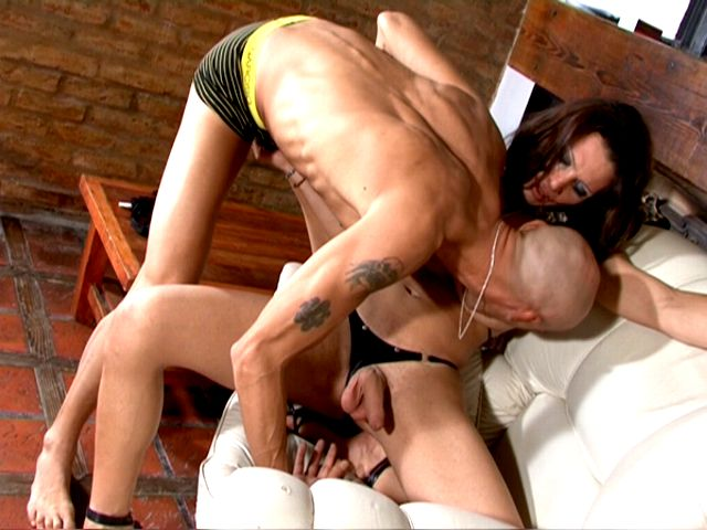 Mischievous Dark Haired Shemale Stunner Triany Will Get Fuck-stick Drained And Deepthroated Via A Clean-shaved Man