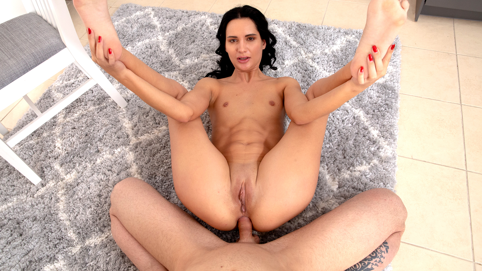 Teenager Black-haired First-ever Buttfuck Fuckfest